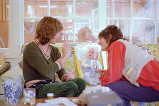 Mick, Ronnie and Jesse Wood – 1977